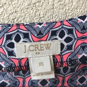 J. Crew Factory Tops - J. Crew Factory Pink Printed Short Sleeve Shirt